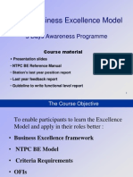 NTPC BE Model Refresher Prog.modified Aug 2011
