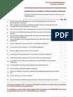 Succession Planning Questionaire 1209