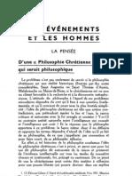Esprit 2 - 19321101 -  Borne, Étienne - D'une philosophie chrétienne qui serait politique