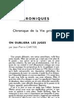 Esprit 2 - 19321101 - Cartier, Jean-Pierre - On oubliera Les juges