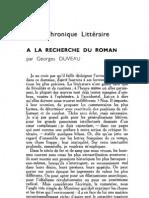 Esprit 2 - 19321101 -  Duveau, Georges - À la recherche du roman