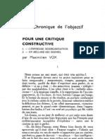 Esprit 2 - 19321101 - Vox, Maximilien - Pour une critique constructive