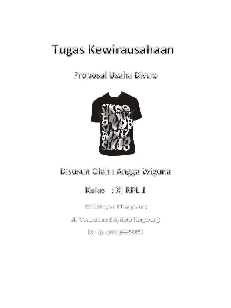 Proposal Usaha Distro