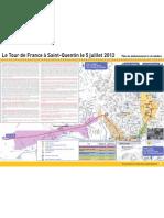 Tour de France / St Quentin Plan Circulation