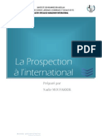 La Prospection à l'international - NADIR MOUFAKKIR