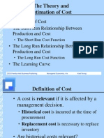 Theory and Estimation of Cost
