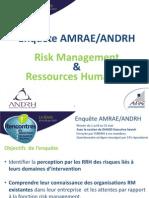 Enquête AMRAE/ANDRH Risk Management et Ressources Humaines