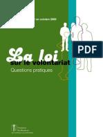 La loi sur le volontariat en Belgique (Octobre 2008)