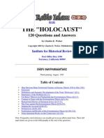 Holocaust 120 Questions and Answers Charles e Weber