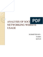 Analysis of Social Networking Website Usage1