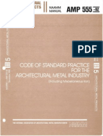 ANSI AMP_555-92 Code of Standard Practice for the Architectural Metal Industry