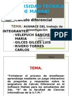 CALCULO DIFERENCIAL POWER POINT