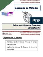 Sem 16.1 - IM I - USMP - Balance de Líneas de Ensamble - Generalidades.