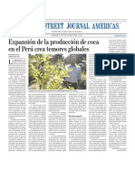 Cultivo hoja de Coca expande en Peru