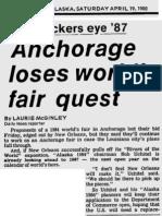 1984 World Fair - Newspaper Clippings