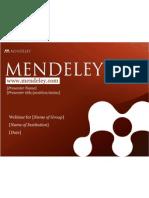 Mendeley Teaching Presentation - July 2012