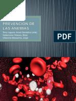 Prevencion de Las Anemias
