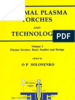 Thermal Plasma Torches and Technologies - Vol.1 - Plasma Torches. Basic Studies and Design (O. P. Solonenko; 2003)
