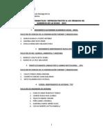 Listas y Candidatos Fipa 2012