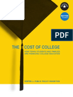 The Cost of College - How Texas Students and Families Are Financing College Education