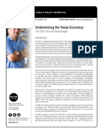 Undermining the Texas Economy - The 2012-2013 Texas State Budget