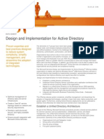 Design and Implementation for Active Directory Datasheet