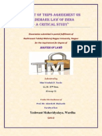 My Dissertation on Impactof TRIPS Agreement on Trademarklawin India