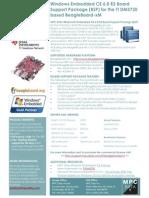 Beagleboard xM WinCE6R3 BSP Fact Sheet