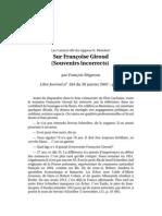 23404289 Souvenirs Incorrects Sur Francoise Giroud Fr Brigneau 2003