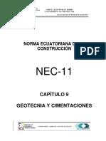 Norma ecuatoriana de la construccion Cap9 Geotecnia y Cimentaciones