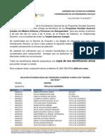 PADRÓN GUERRERO CUMPLE REGIÓN CENTRO, MUNICIPIO TIXTLA DE GUERRERO