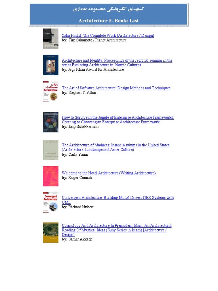 Architecture E-Books List   Landscape   Architect