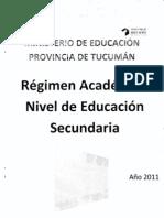 Regimen Academico Secundario