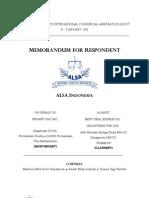 Memorandum for Respondent - ALSA Indonesia