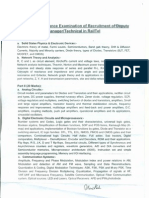 Syllabus -Domain Area of Written Examination for Direct Rectt.- DM(Tech)