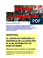 Noticias Uruguayas Martes 3 de Julio Del 2012