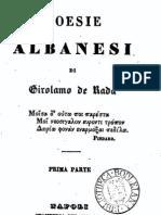 Poesie Albanesi - Girolamo De Rada [Jeronim De Rada] (1847)