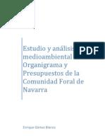 Estudio y análisis medioambiental del Organigrama y Presupuestos de la Comunidad Foral de Navarra