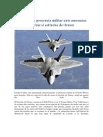 EEUU crece la presencia militar ante amenazas de Irán de cerrar el estrecho de Ormuz
