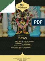 ISKCON Newsletter 2012 05 May