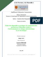 Communication Environnementale et développement durable Au Sénégal
