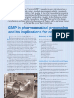 GMP in Pharmaceutical Processing