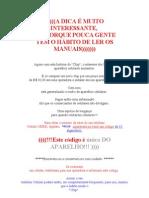 A DICA É MUITO INTERESSANTE -  EM CASO DE ROUBO