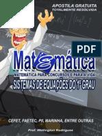 Apostila de Matemática Sistema de Equações do 1º Grau versão resolvida