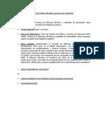 Fichas de Gestión educativa y procesos de evaluación