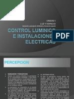 Control Luminico e Instalaciones Electricas, Unidad i Primera Parte