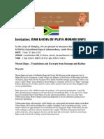 Morari Bapu Ram Katha - July 2012, Johannesburg, South Africa