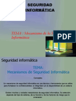 Seguridad Informatica - Mecanismo de seguridad Informática