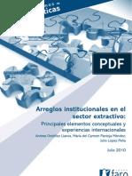 2010.FARO EC.arreglos Institucionales en El Sector Extractivo