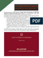 Estratto Relazione Presidente Cassazione 2012